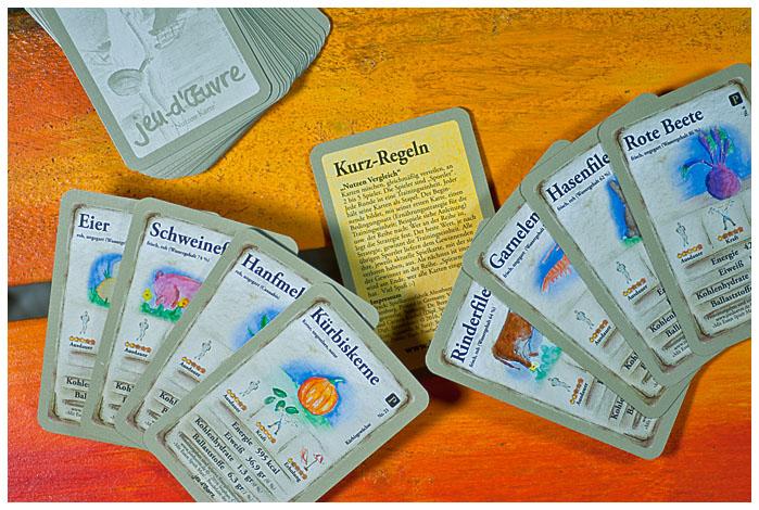Spielkarten für Protein Poker Lernspiel Kartenspiel